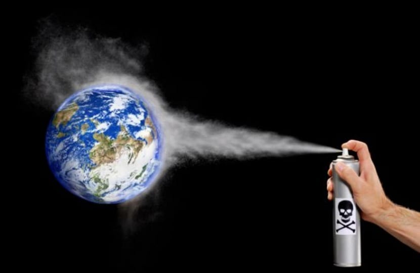 la capa de ozono se deteriora con los CFC