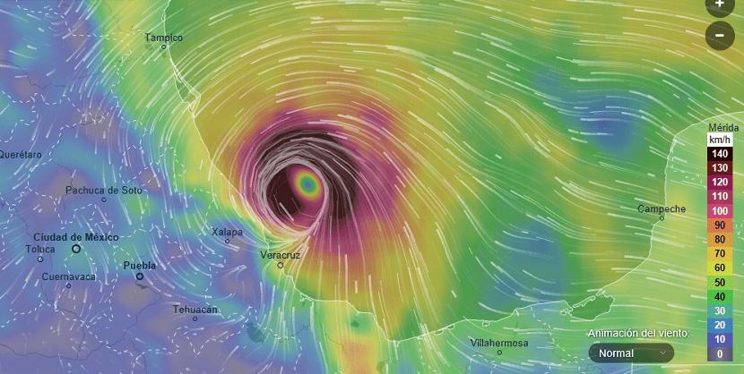 pronóstico huracán Franklin