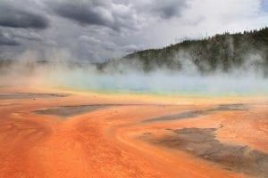 volcán yellowstone paisaje