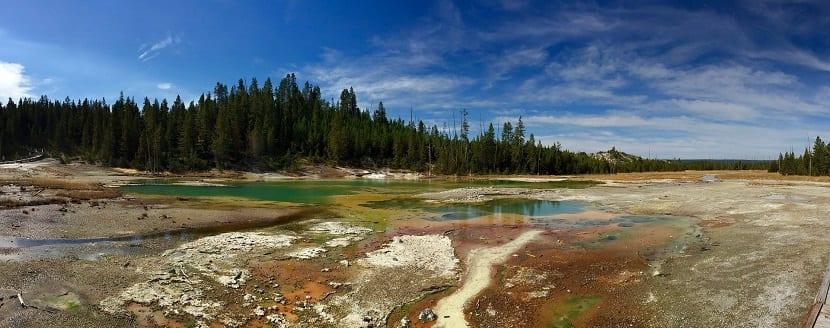 paisaje panorámico valle yellowstone