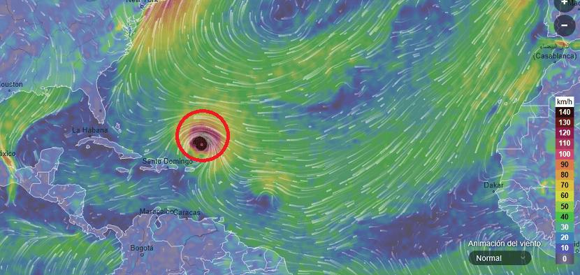 Huracán Irma previsión