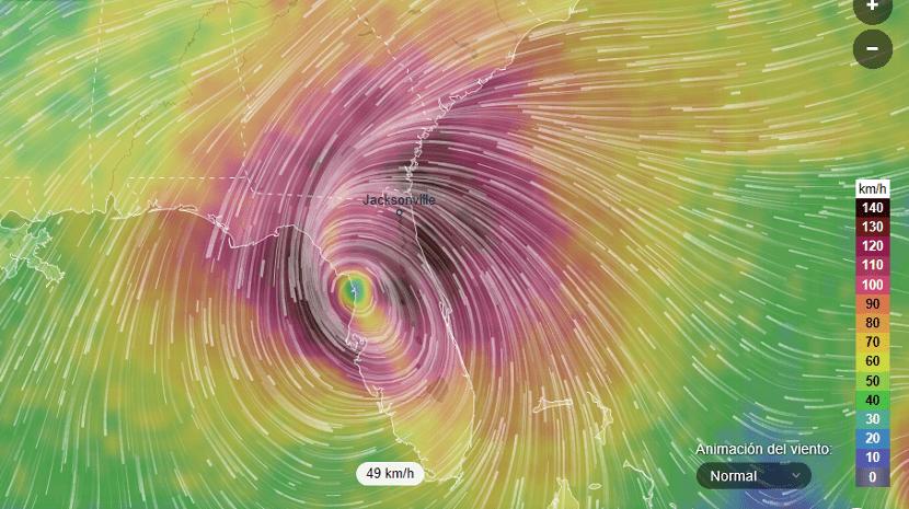 Huracán Irma ubicación