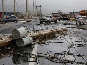 Daños en Puerto Rico producidos por el huracán María