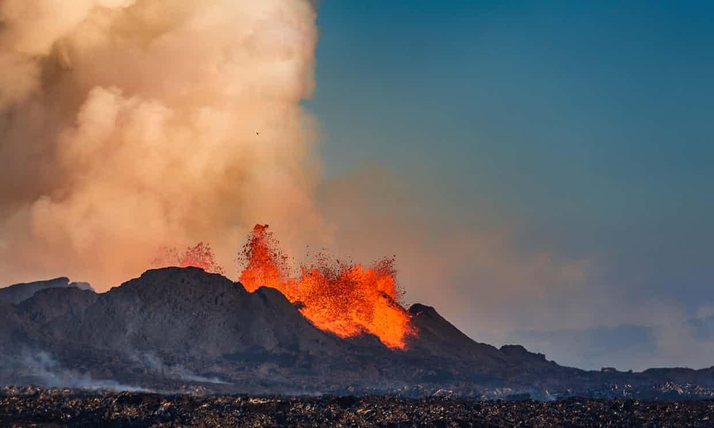 erupciones volcánicas son la razón del calentamiento global