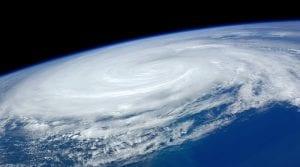 huracan visto desde el espacio