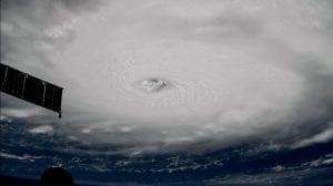 huracán irma visto desde el espacio nasa
