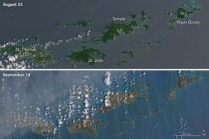 Las Islas Vírgenes vistas desde el satélite de la NASA