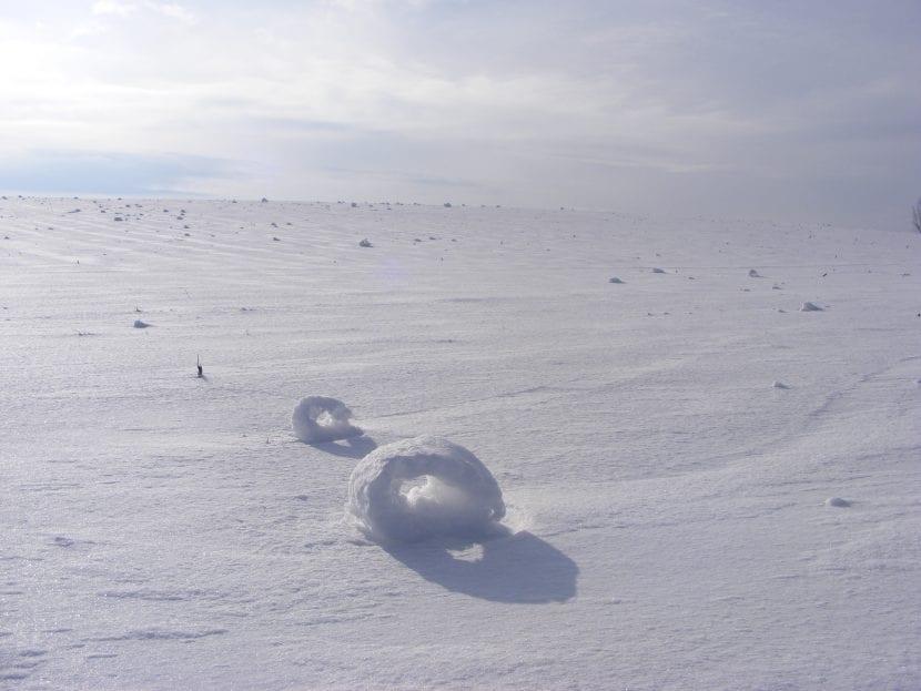 Donuts o rodillos de nieve