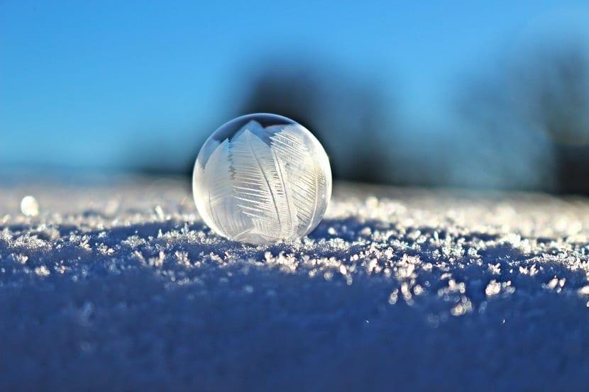 formación de un copo de nieve