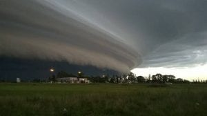 viento pampero que sopla en Argentina