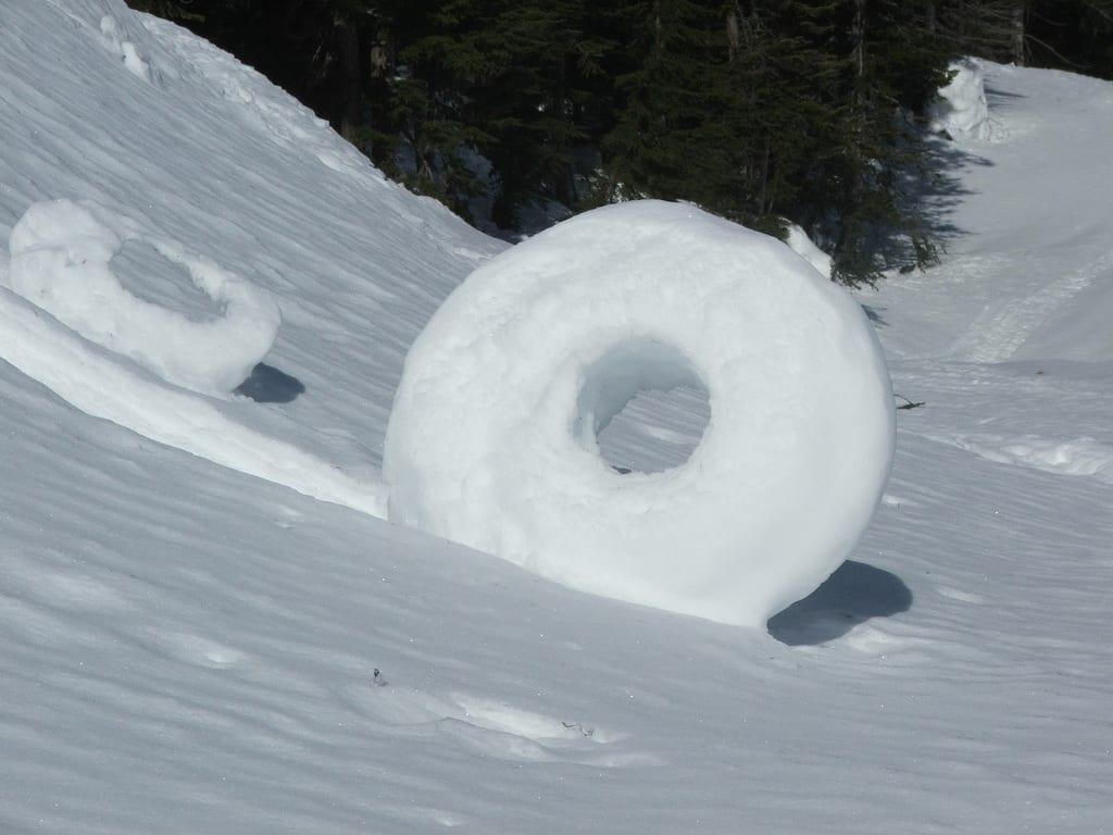 Rodillo o donuts de nieve