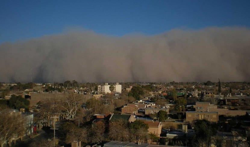 viento zonda en Argentina