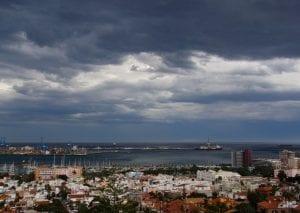 Borrasca sobre Las Palmas de Gran Canaria