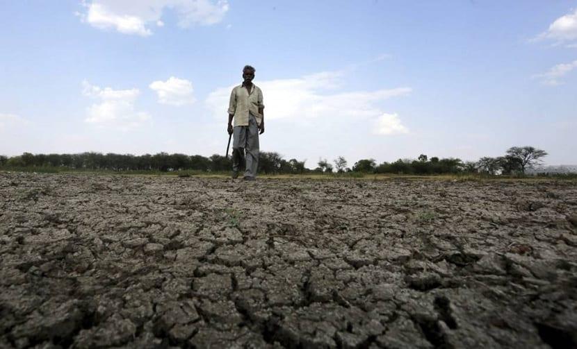 sequía en la india