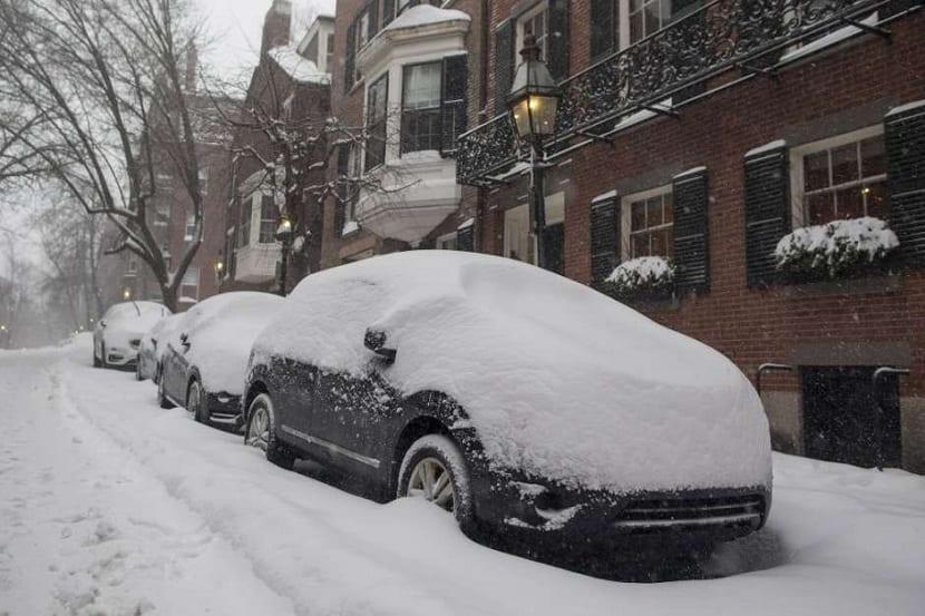 gran cantidad de nieve