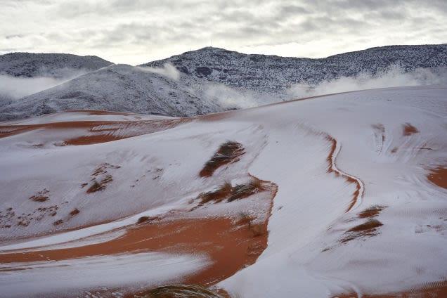 Nieve en el desierto del Sáhara