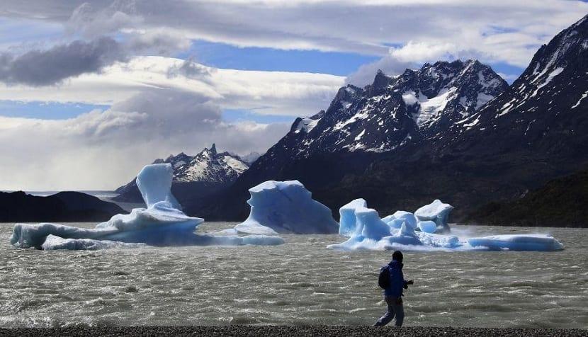 derretimiento del glaciar Grey