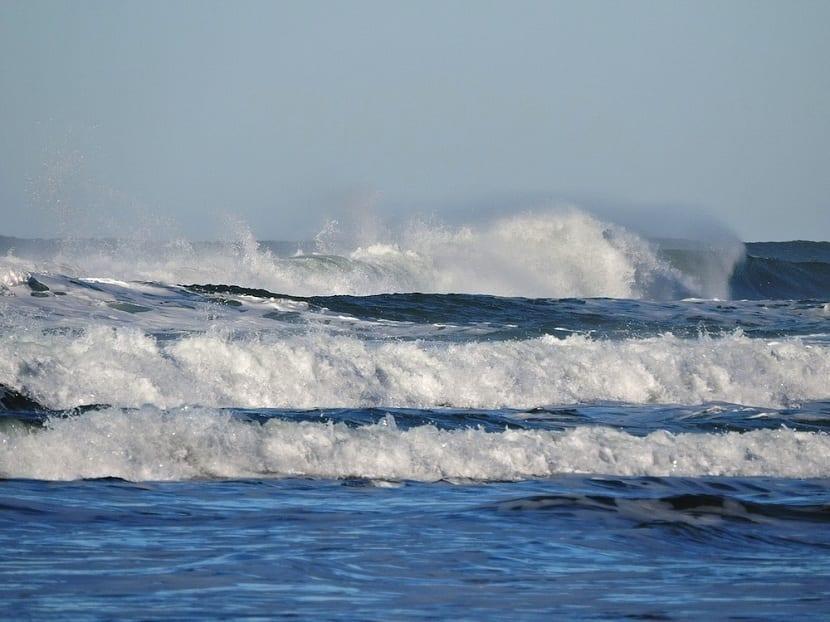 las olas son ondulaciones