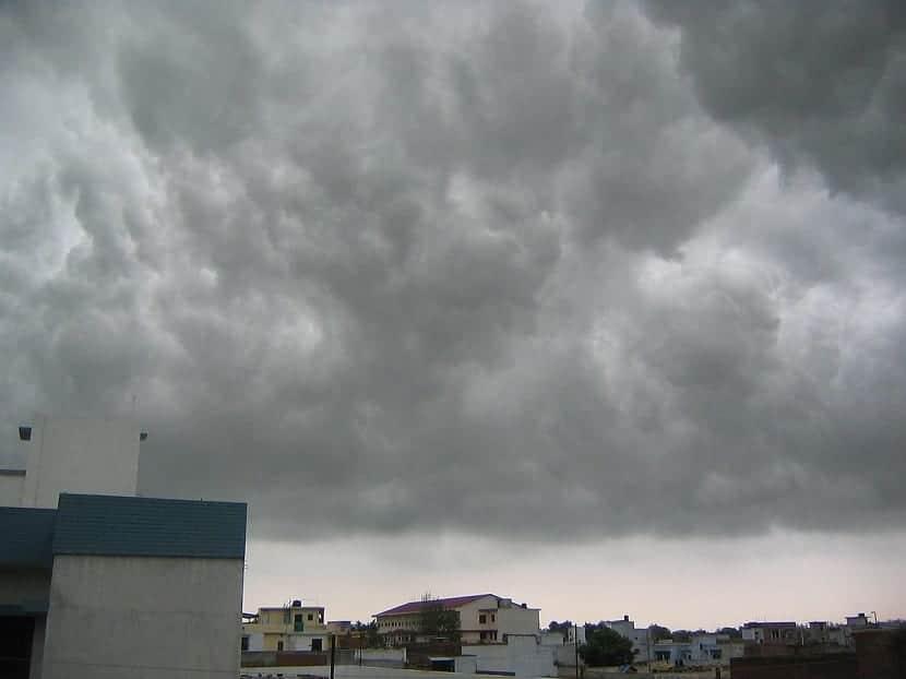 nubes de desarrollo vertical