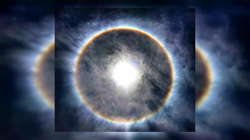 Antelia o círculo solar de fuego