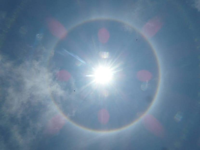 Halo solar en lugares más fríos