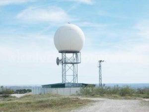 Radar de precipitaciones de AEMET en Madrid