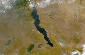 Imagen donde se ven los lagos del Valle del Rift