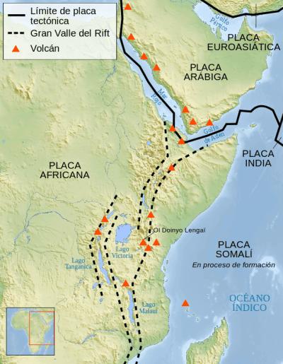 Imagen del mapa del Valle del Rift
