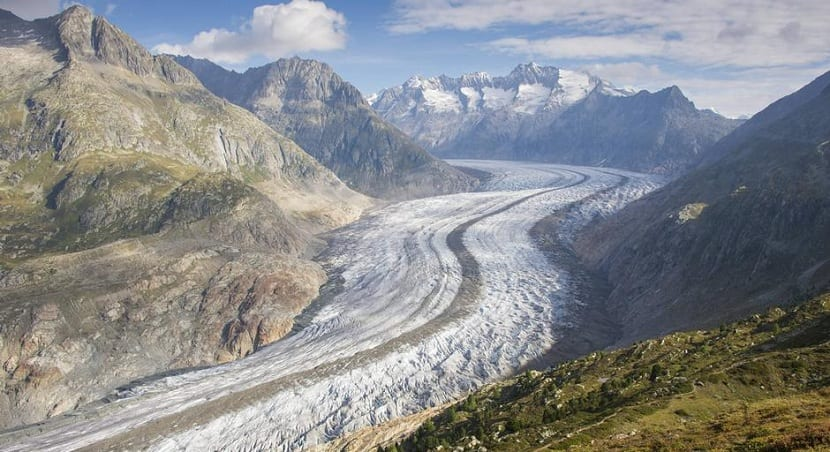 Desaparición de los glaciares por el calentamiento global
