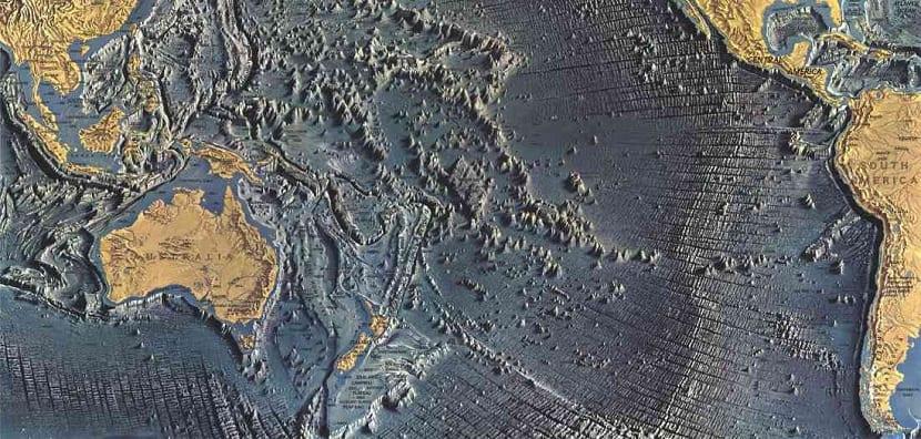 Distribución de las dorsales océanicas