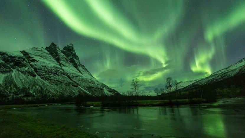 Paisajes increibles con la aurora boreal
