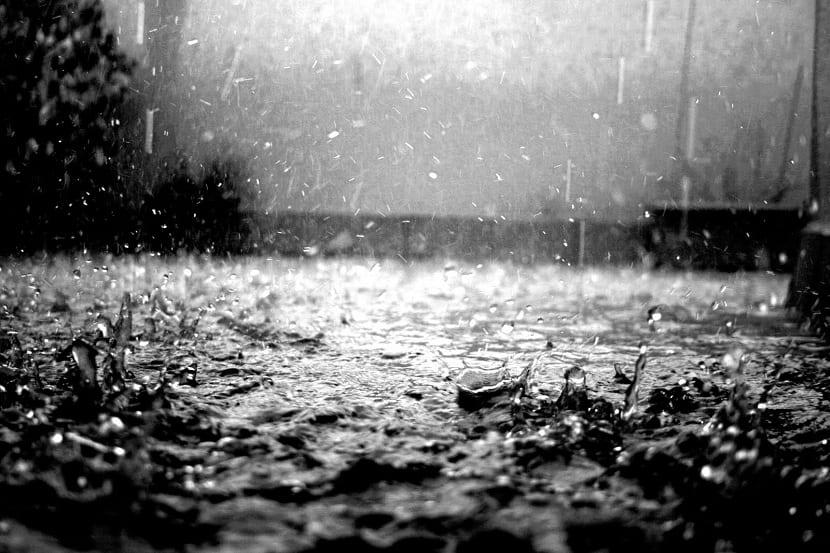 gotas de agua de lluvia