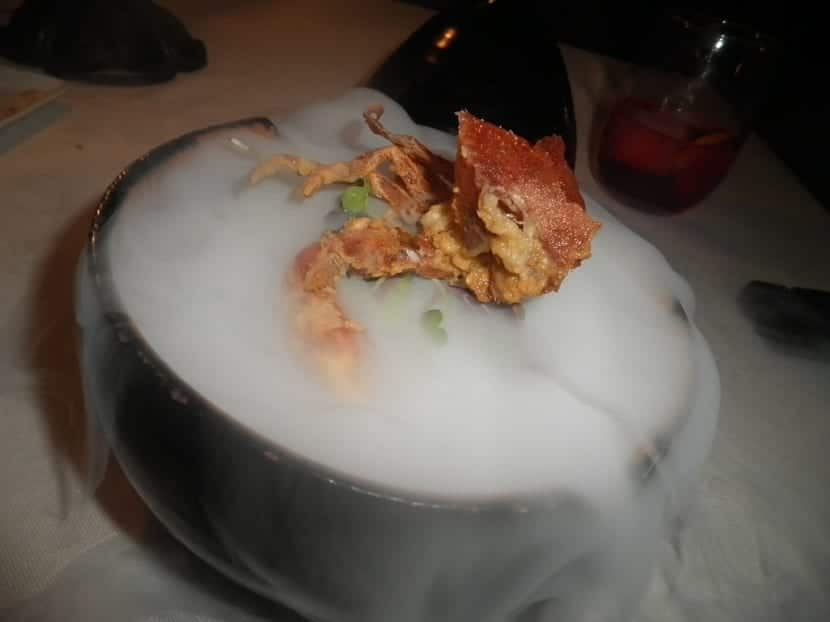 hielo seco utilizado en la cocina
