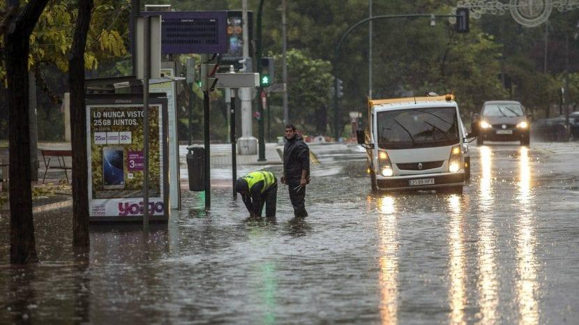 Vista de las inundaciones del Levante