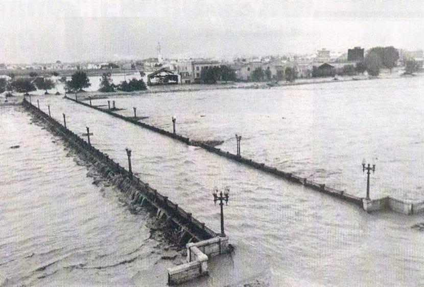 Vista de la riada de Valencia