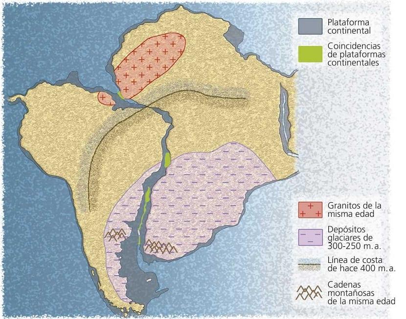 forma de los continentes en puzle