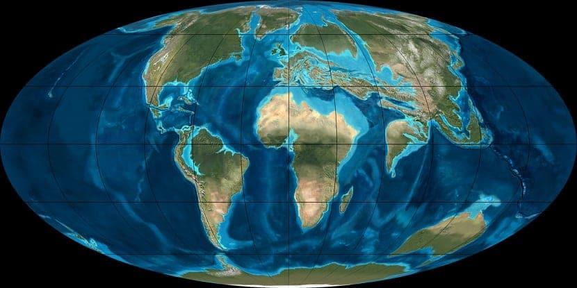 Unión de los continentes y formación de cordilleras actuales