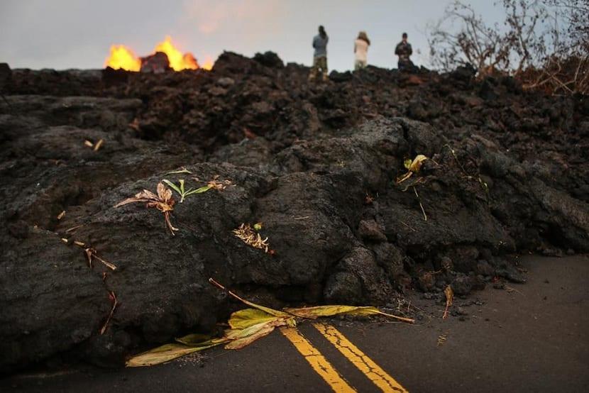 lava amontonada