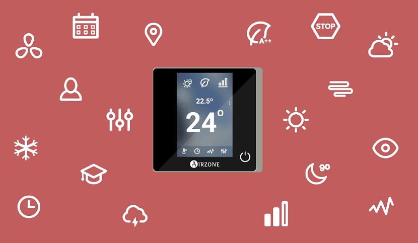 Distintas funcionalidades del termostato WIFI