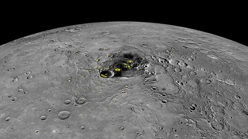 Cráteres de mercurio