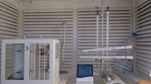Estación de medida del psicrómetro