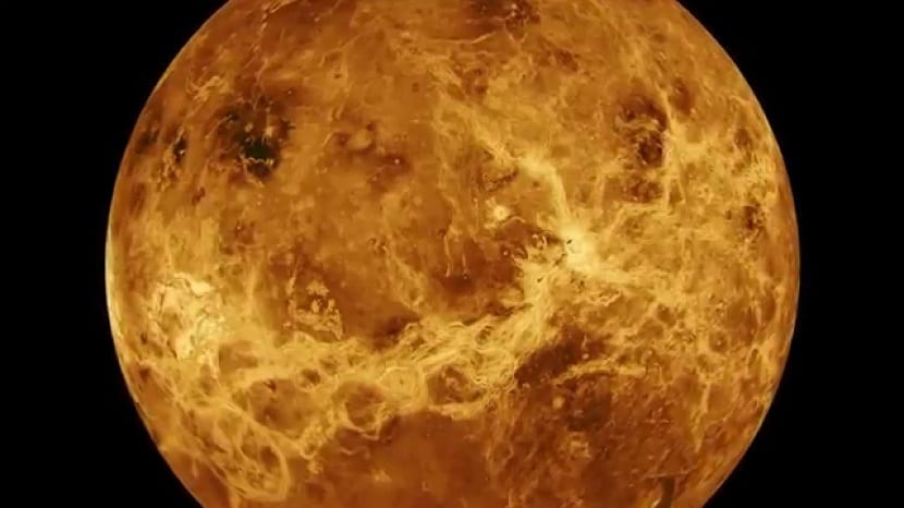 Planeta Venus abrasador