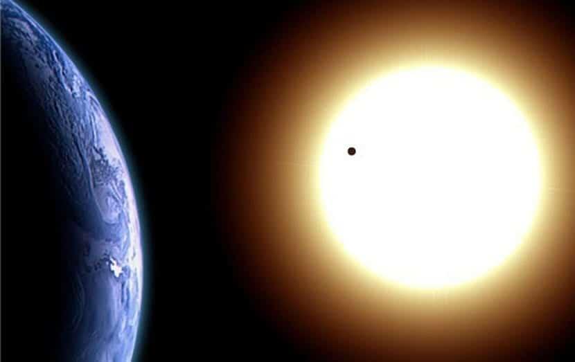 Planeta Venus desde la Tierra