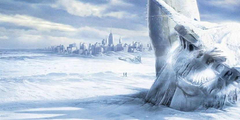 Hemisferio norte en edad de hielo futura