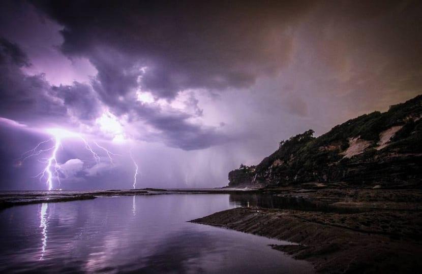 Rayos en una tormenta electrica