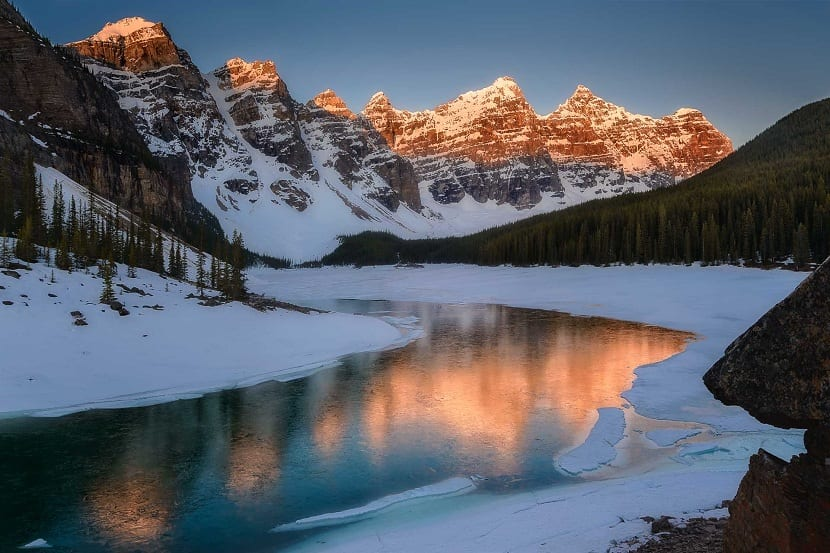 glaciares de las montañas rocosas
