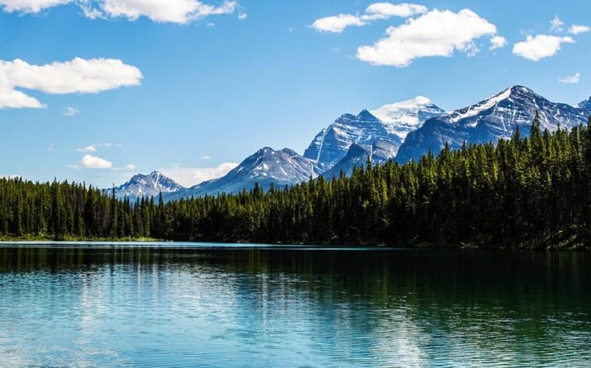 paisajes de las montañas rocosas