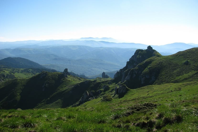 Belleza del paisaje de los montes Cárpatos
