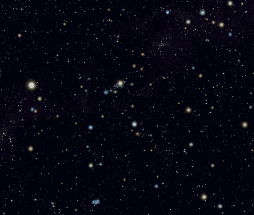 constelacion perseo en el cielo