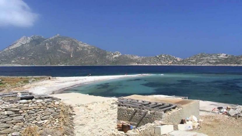 costa y playas del mar egeo